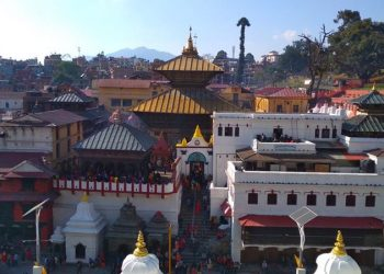 This image shows the eastern face of Pashupatinath temple on Mahashivaratri festival, on Monday, March 4, 2019. Photo: Suresh Chaudhary/THT